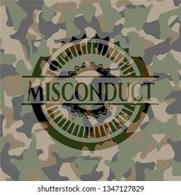 Misconduct camouflage emblem