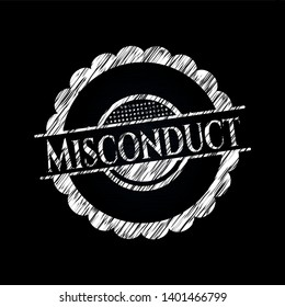 Misconduct with chalkboard texture. Vector Illustration. Detailed.