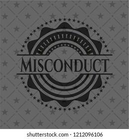 Misconduct dark badge