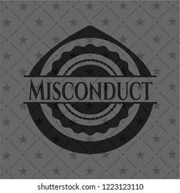Misconduct dark emblem. Retro