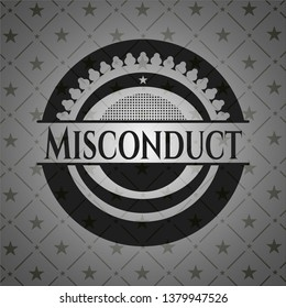 Misconduct dark icon or emblem