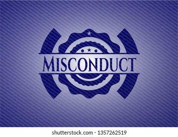Misconduct denim background