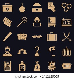 Misconduct icons set. Simple set of 25 misconduct vector icons for web for any design
