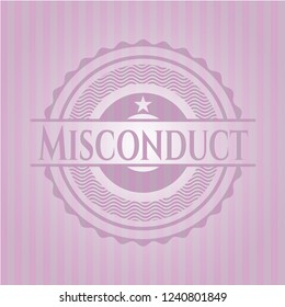 Misconduct realistic pink emblem