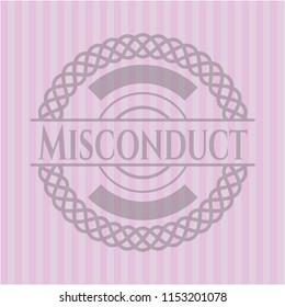 Misconduct retro pink emblem