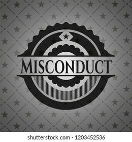 Misconduct retro style black emblem
