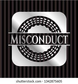 Misconduct silvery emblem