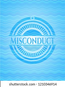 Misconduct sky blue water badge.