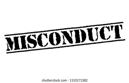 Misconduct typographic stamp