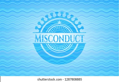 Misconduct water representation style badge.