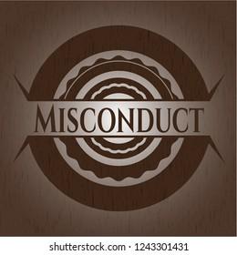 Misconduct wooden emblem