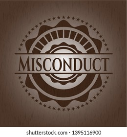 Misconduct wooden signboards. Vector Illustration.