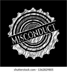 Misconduct written on a blackboard