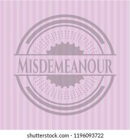 Misdemeanor realistic pink emblem