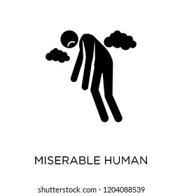 miserable human icon. miserable human symbol design from Feelings collection. Simple element vector illustration on white background.