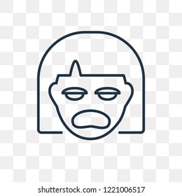 Miserly vector outline icon isolated on transparent background, high quality linear Miserly transparency concept can be used web and mobile