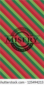 Misery christmas colors style emblem.