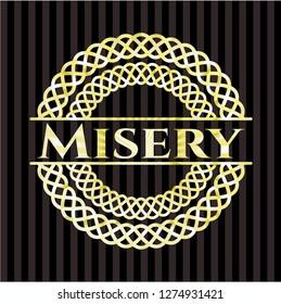 Misery golden badge or emblem