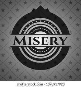 Misery realistic dark emblem