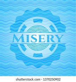 Misery water wave badge.