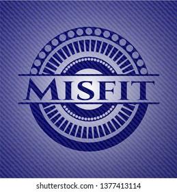 Misfit badge with denim texture