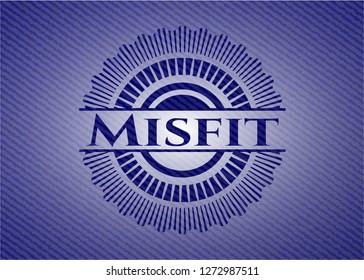 Misfit emblem with jean texture