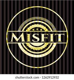 Misfit golden badge