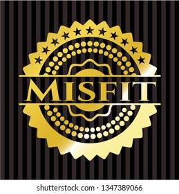 Misfit golden badge or emblem