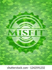Misfit green mosaic emblem