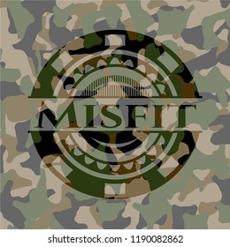 Misfit on camouflaged pattern