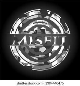 Misfit on grey camouflage pattern