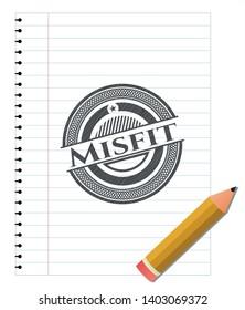 Misfit pencil draw. Vector Illustration. Detailed.