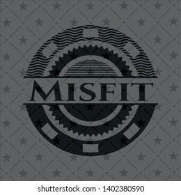 Misfit realistic dark emblem. Vector Illustration. Detailed.
