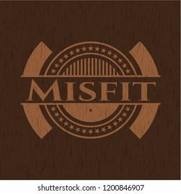Misfit retro style wood emblem