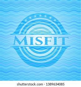 Misfit water style emblem. Vector Illustration. Detailed.