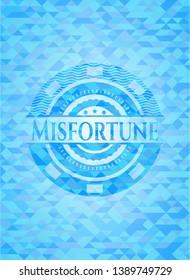 Misfortune realistic light blue mosaic emblem
