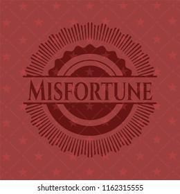 Misfortune red emblem. Retro
