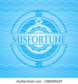 Misfortune water wave emblem. Vector Illustration. Detailed.