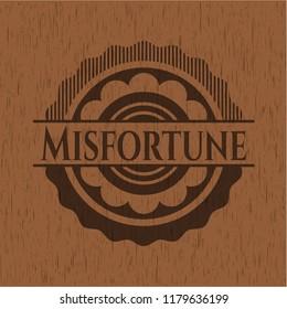 Misfortune wood emblem. Vintage.