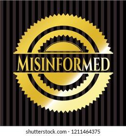 Misinformed golden badge or emblem