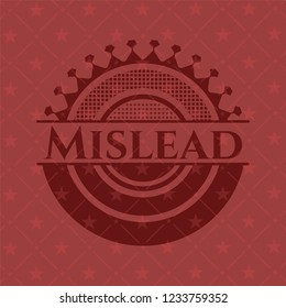 Mislead badge with red background