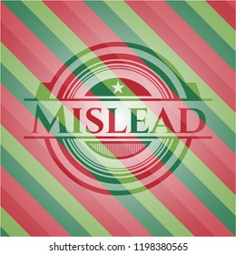 Mislead christmas colors style badge.