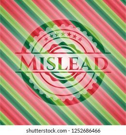 Mislead christmas emblem.