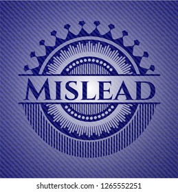 Mislead emblem with denim high quality background