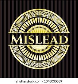 Mislead gold emblem or badge