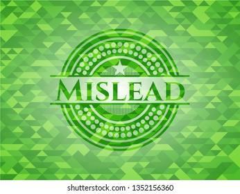 Mislead green mosaic emblem