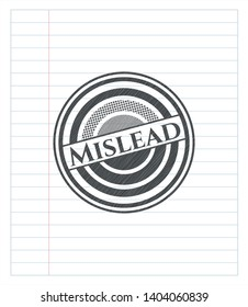 Mislead pencil effect. Vector Illustration. Detailed.