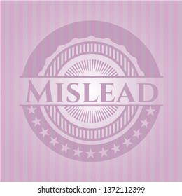 Mislead pink emblem. Vintage.