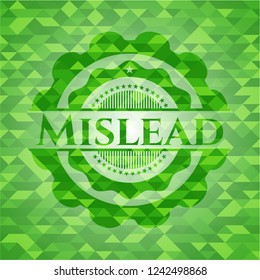 Mislead realistic green mosaic emblem
