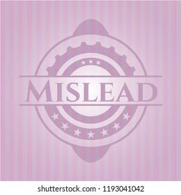 Mislead realistic pink emblem